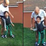 Този баща прави нещо ПРЕКРАСНО за парализирания си син. На това се казва ЛЮБОВ! (ВИДЕО)